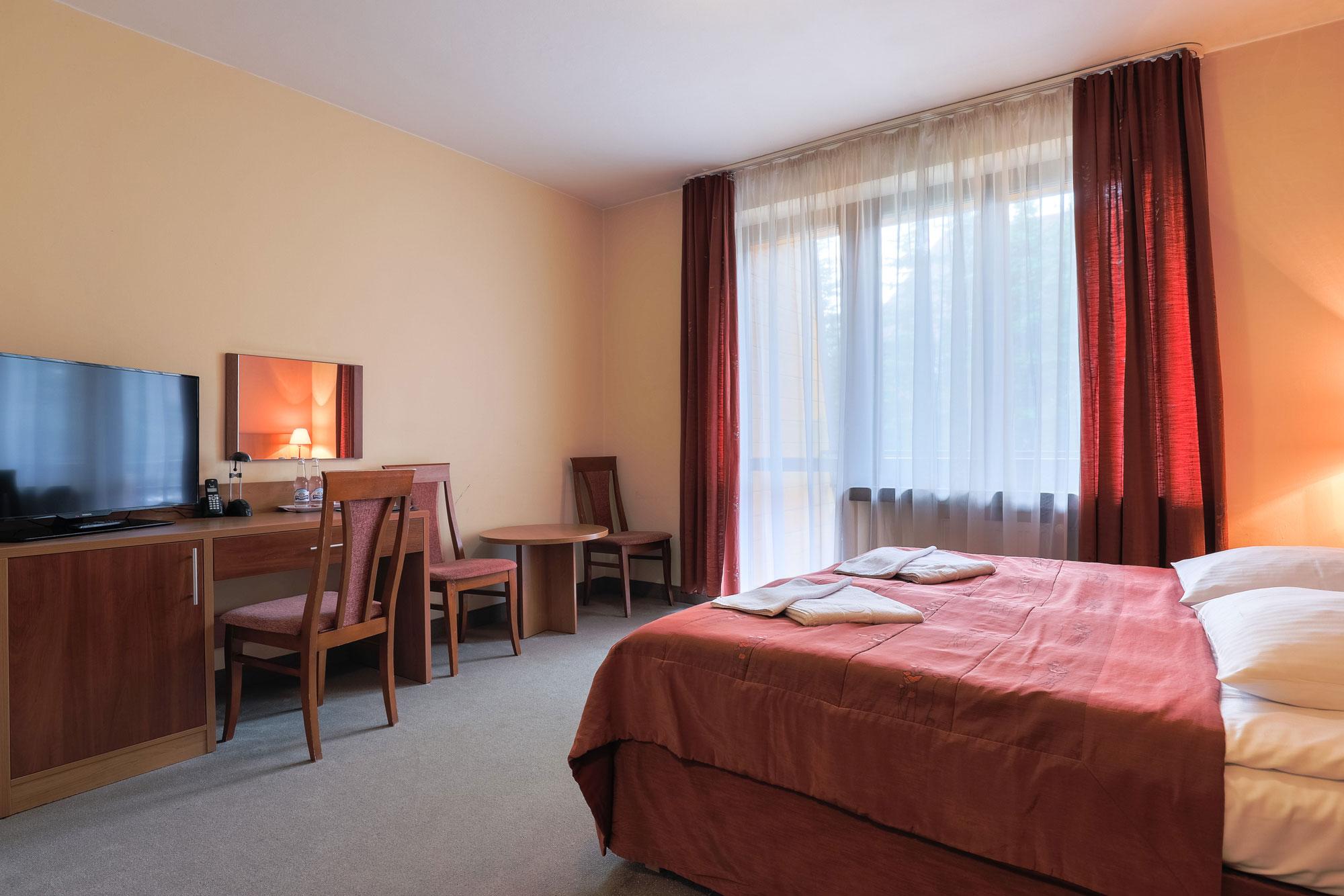 Układ pokoju w hotelu Boruta w Zakopanem